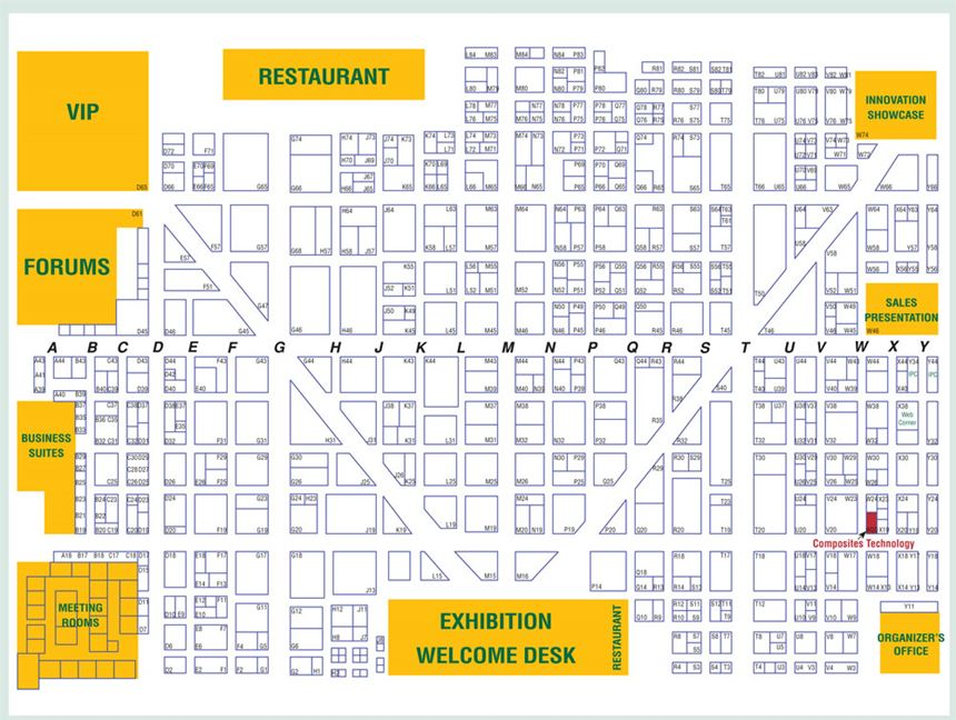 JEC Show Floor Map 2009