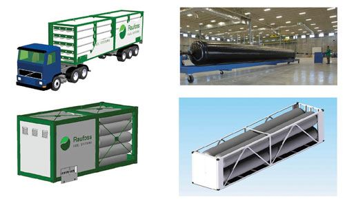 Four-vessel ISO container