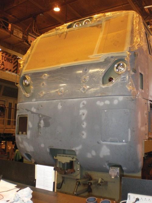 GE Transportation locomotive in process