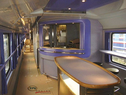 Railcar interior