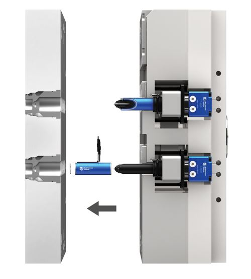 Front-removable nozzle heaters