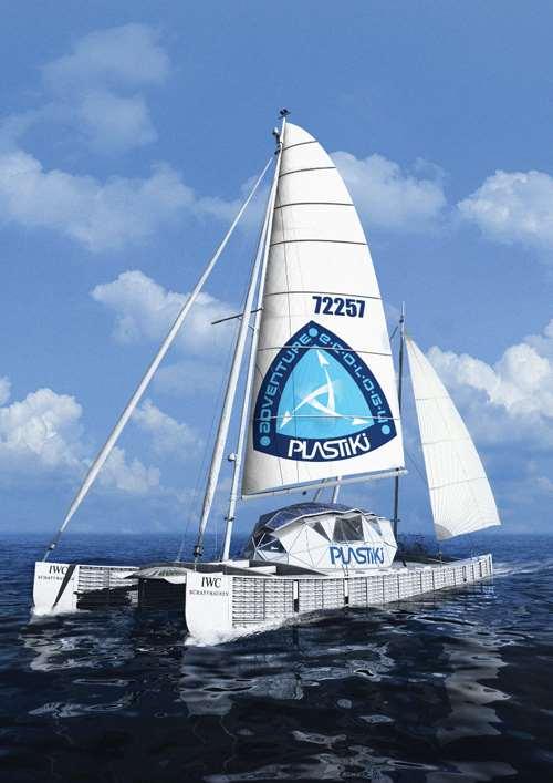 Plastiki catamaran