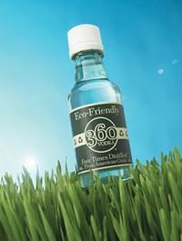 50ml PET bottle for McCormick Distilling Co.'s 360 Vodka