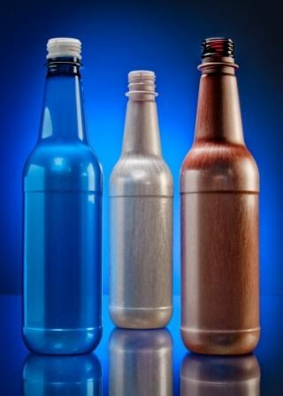 oPTI foamed beer bottles from PTI use Trexel MuCell process