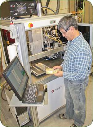 UV ink-test printer from Pad Print Machinery of Vermont