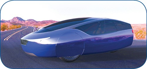 ABS body panels are made with Stratasys FDM process.