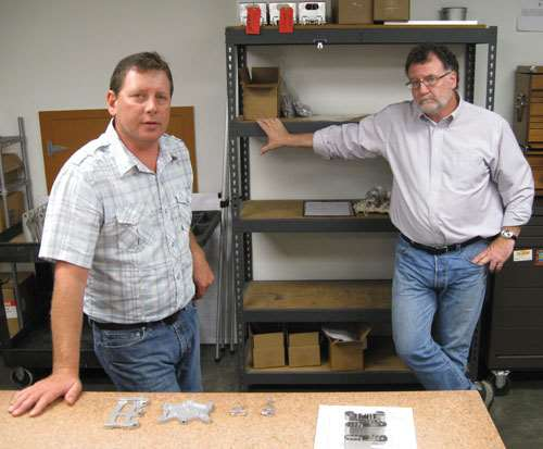 Eric Potts and Chris Wood, two owners of TMF CNC Machining