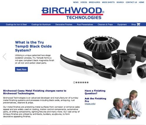 The newly redesigned birchwoodtechnologies.com.