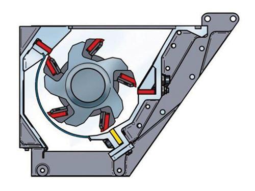El rotor de 3 cuchillas para eficiencia energética en la trituración de scrap de piezas grandes
