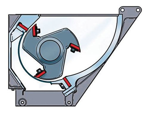 Cámara de corte estilo semi-restringido y rotor de 5 cuchillas para trituración de alta eficiencia energética