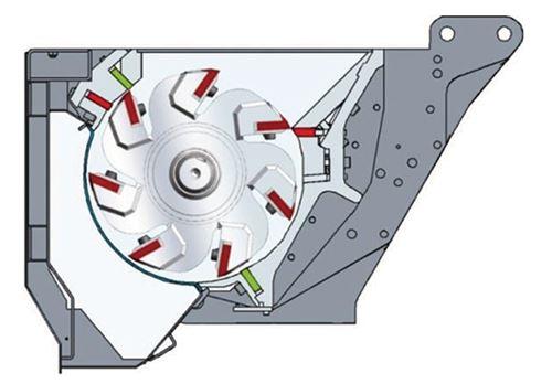 Cámara de corte restringida con rotor de 7 cuchillas para trituración de alta eficiencia energética