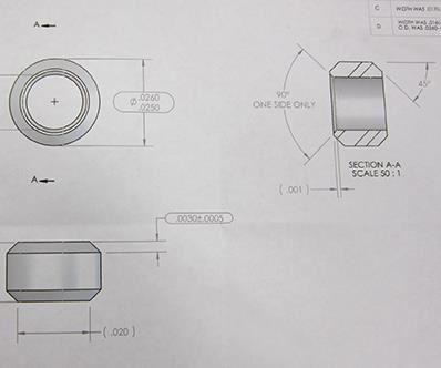 micro machining part