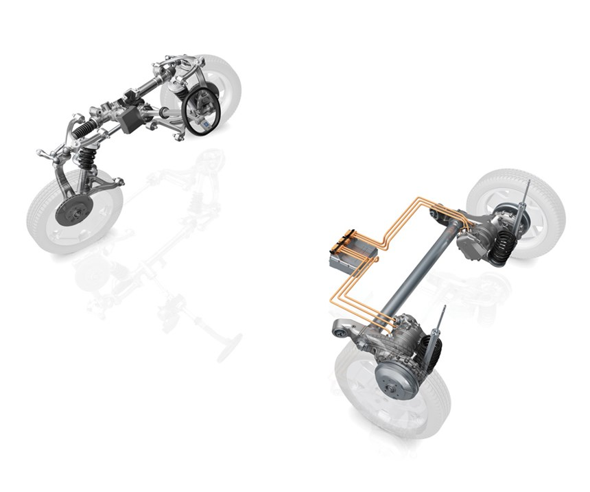 The Intelligent Rolling Chassis—a platform for an electrified vehicle.