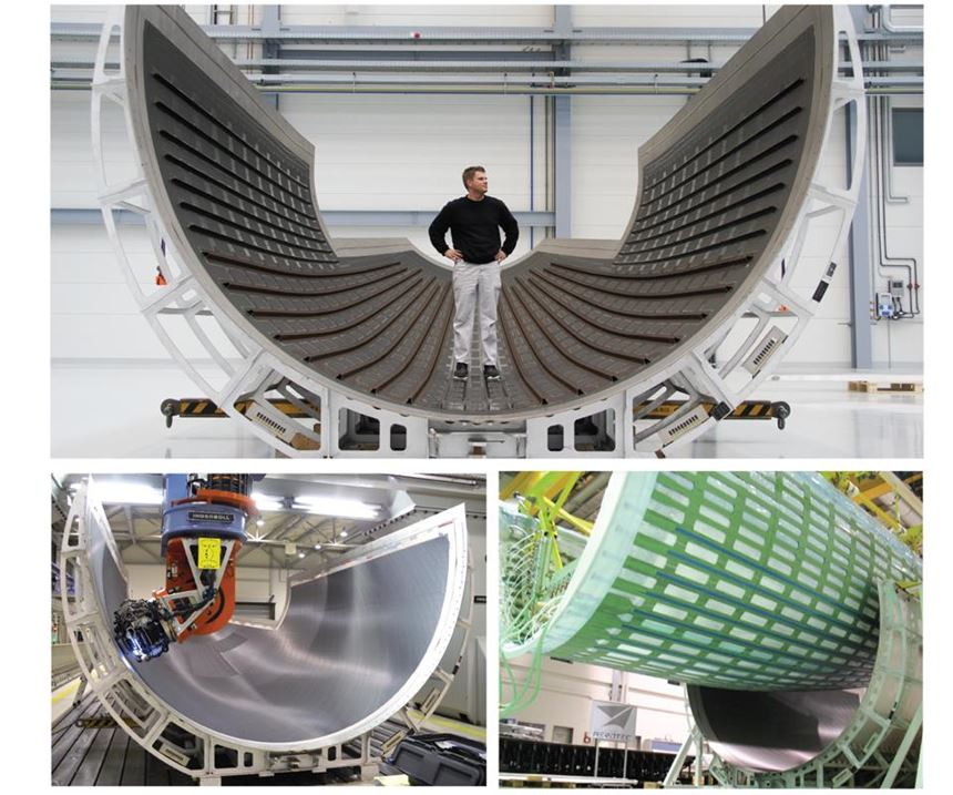 high-rate fuselage shell production