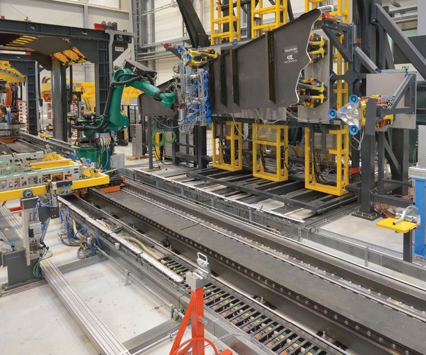 automation for the A320 vertical tail plane