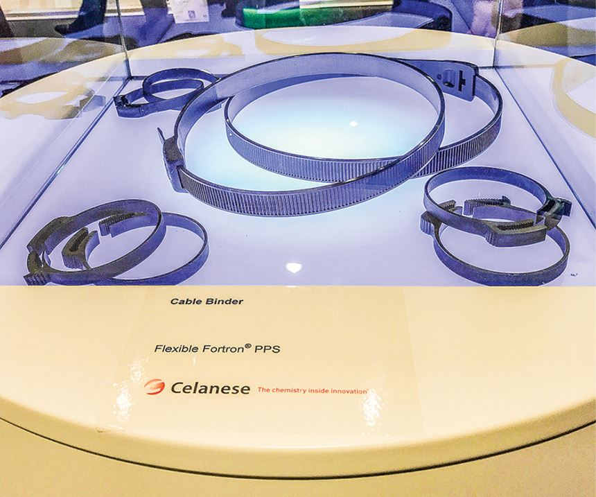 Celanese flexible PPS for cable ties