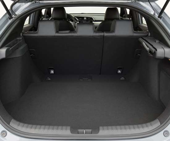 The cargo capacity for the car is 25.7-ft3 with the second row seats up and 46.2-ft3 with the second row folded.