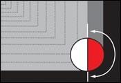 full-width cut