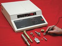 Eddy current plating thickness measurement system