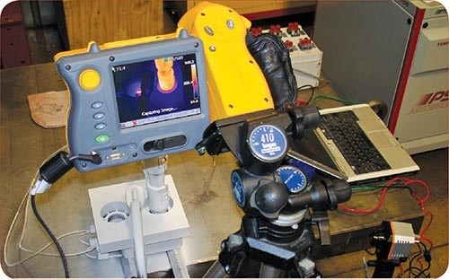 Infrared cameras at PSG group scan hot-runner components in an injection mold