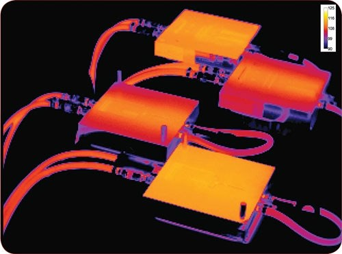 Infrared thermal scan of aluminum injection molds by PSG Group