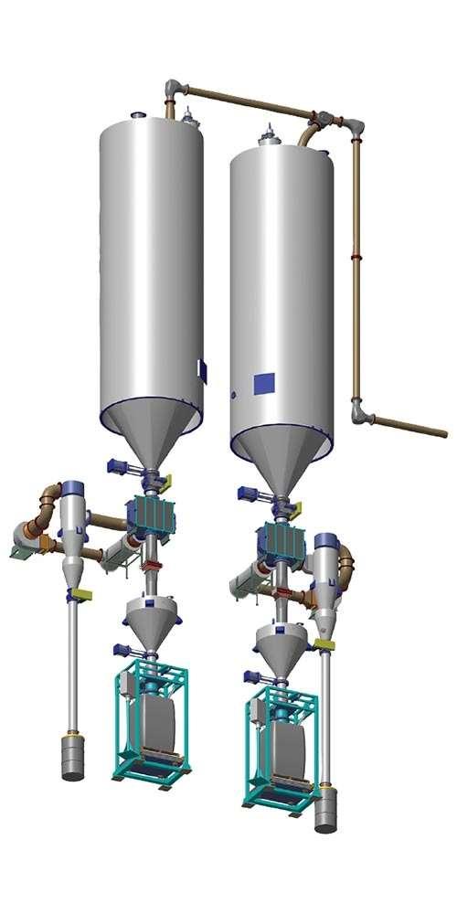 Pelletron Pellcon3 pneumatic materials conveying system