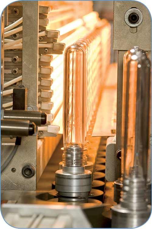 Preform cooling system from W. Amsler Equipment for stretch-blow molding PET bottles.
