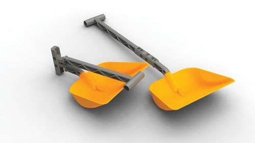 folding handle shovel