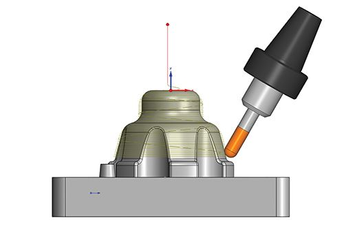 five axis tool path