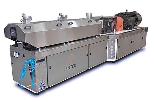 Nuevo equipo de doble tornillo co-rotante de 43 mm de Entek.