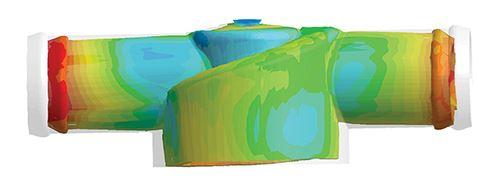 Alabeo predicho con la suposición convencional de temperatura de molde uniforme