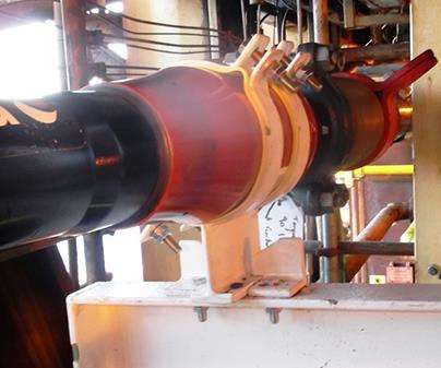 high-pressure water-injection line