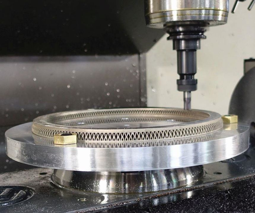 milling an additive part