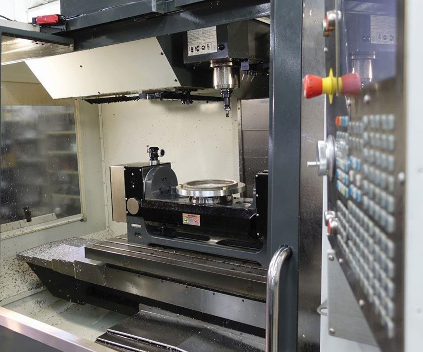 additive part in a machining center