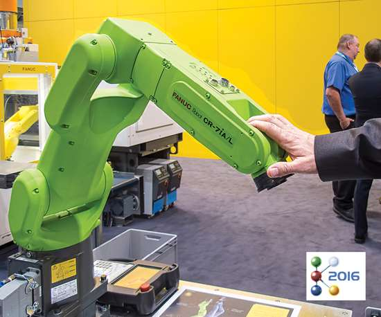 robot in the plastics industry