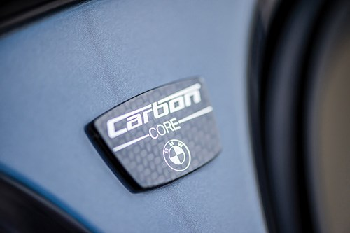"""How often does a vehicle have a badge that indicates one of the materials that it is constructed with? The 7 Series does. That's """"carbon"""" as in carbon-fiber-reinforced plastic."""