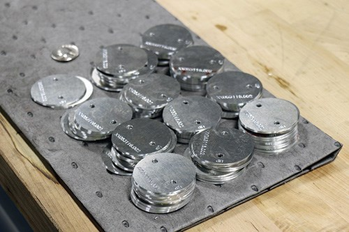 Throttle plates after machining.