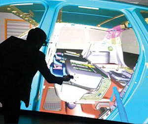 IC.IDO from ESI Group creates real-time, physics-based, immersive 3D views. It's currently targeted for industrial CAVE sites, not VR headsets.