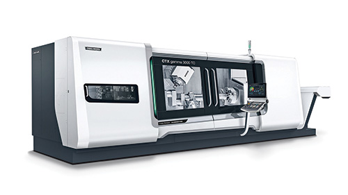 This is a second-generation CTX gamma 3000 TC turn-mill center from DMG MORI.