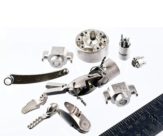 Small, complex, high-volume parts could benefit from significant process savings from metal injection molding. (Image courtesy Smith Metals)