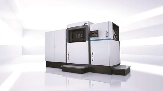 With a build volume of 400 x 400 x 400 mm, EOS M 400 produces large metal parts directly from CAD.