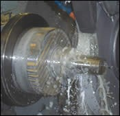 CNC O.D. grinding operation