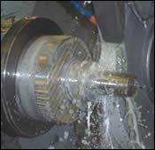 CNC O.D. grinding operation