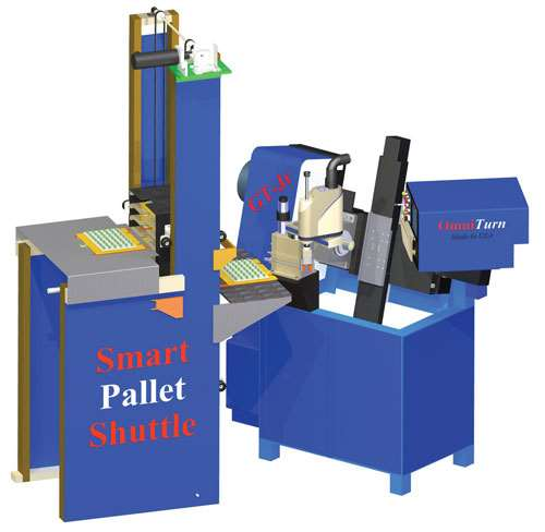 Palletizer with CNC lathe