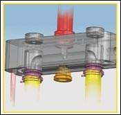 Two-drop manifold