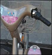 gray Vélib bikes