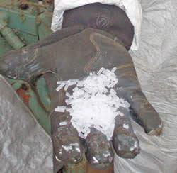 Dry ice pellets
