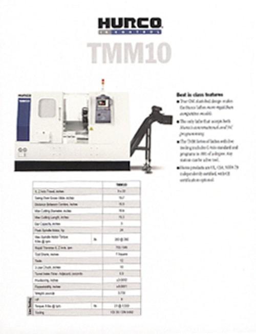 TMM10 literature
