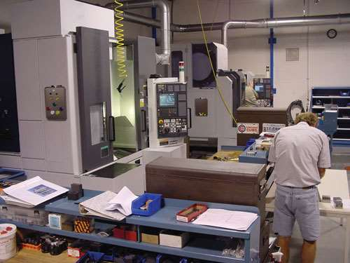 shop floor with machining center