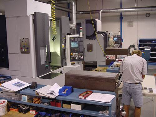 shop floor with machining center